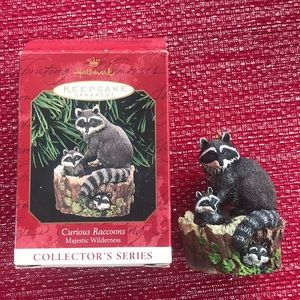 Hallmark Keepsakes Curious Raccoons Ornaments